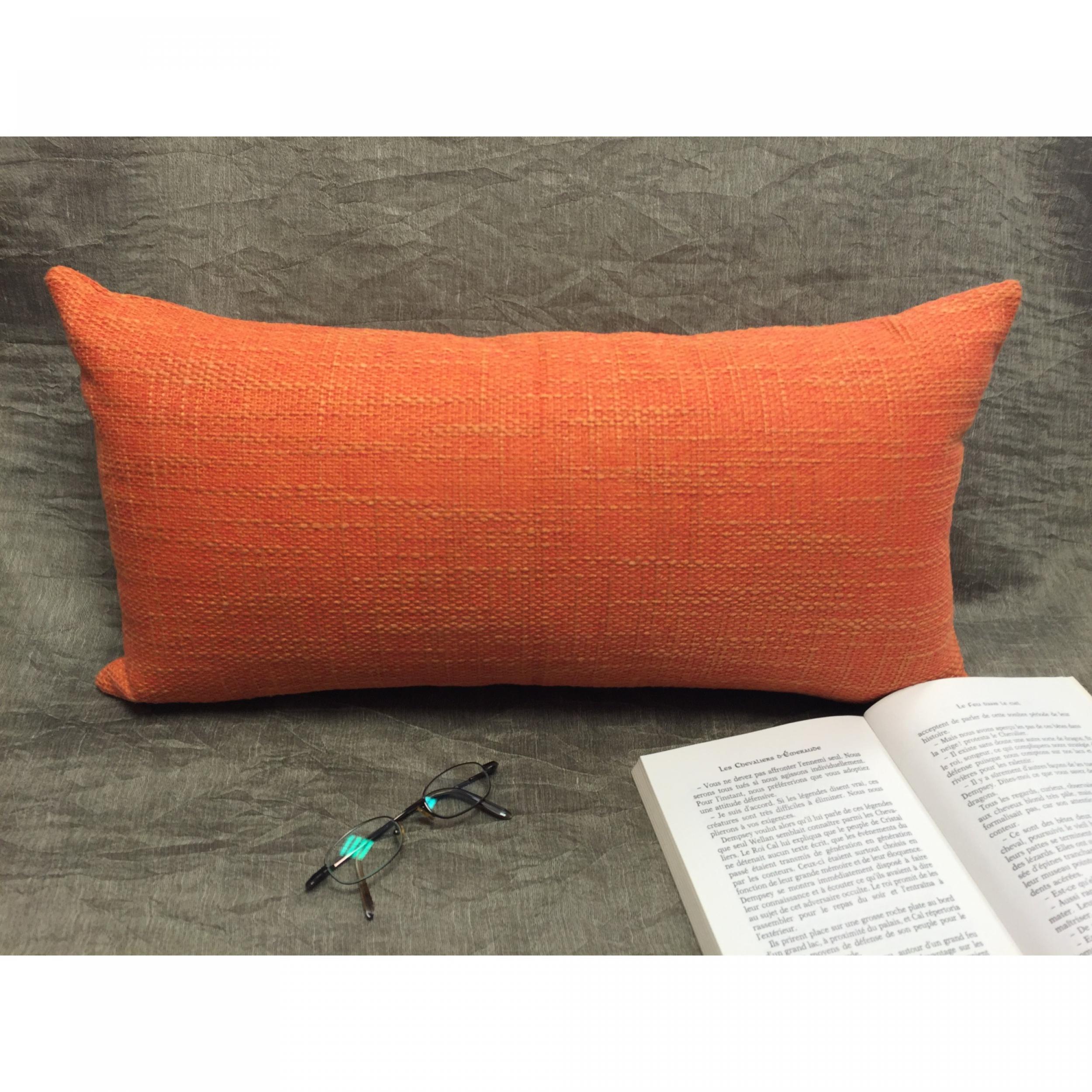housse de coussin ines orange 2 dimensions l 39 atelier de. Black Bedroom Furniture Sets. Home Design Ideas