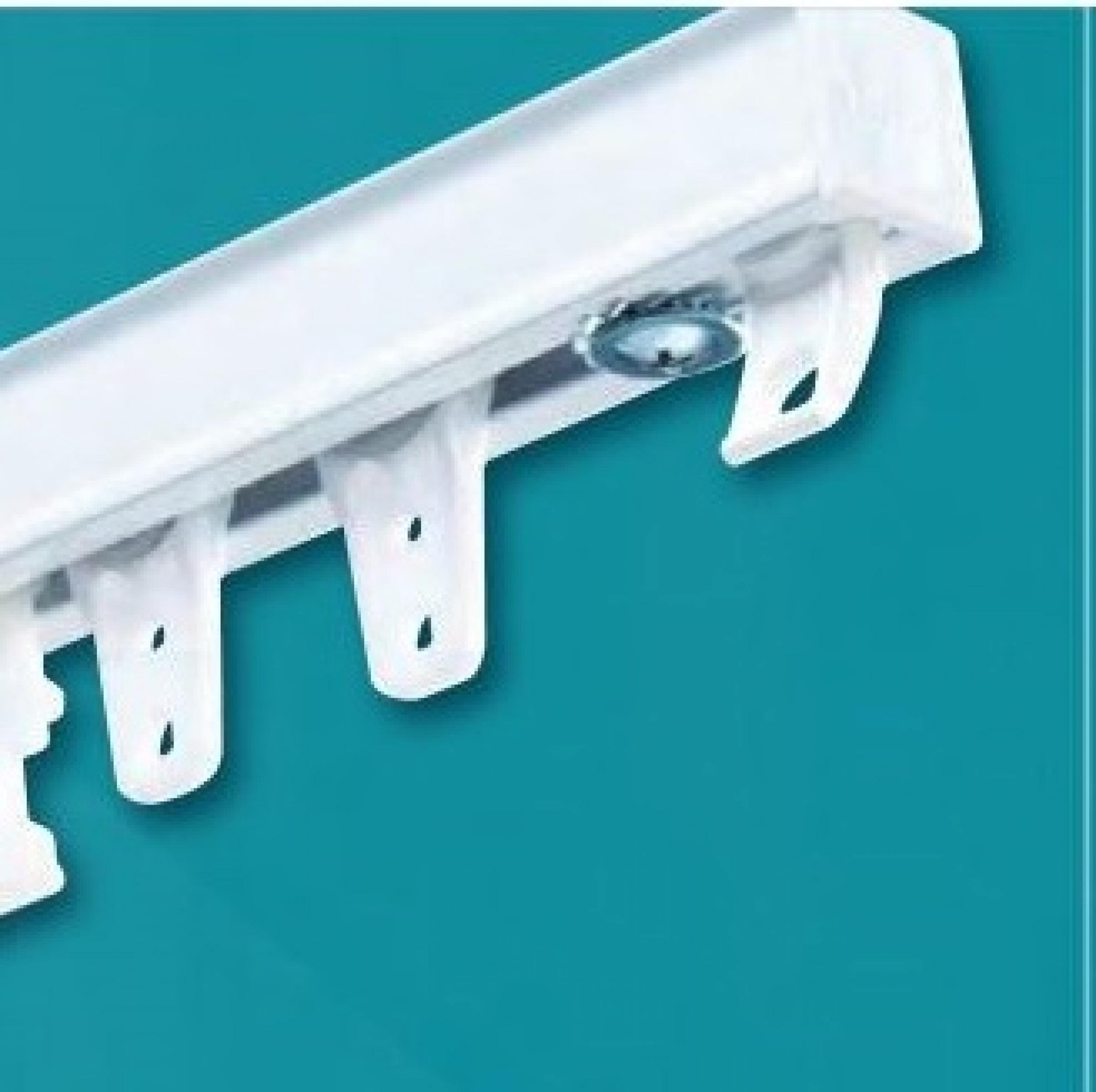 Barre Rideau Fixation Plafond rail cs pour rideau très lourd (avec roulement à billes) - l