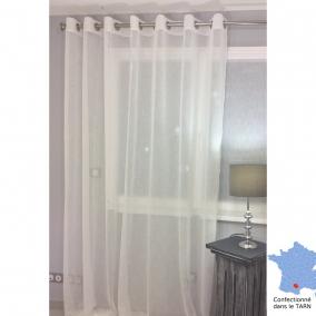 voilage pr t poser puygouzon cru grande hauteur 150 x 290 cm l 39 atelier de la toile. Black Bedroom Furniture Sets. Home Design Ideas