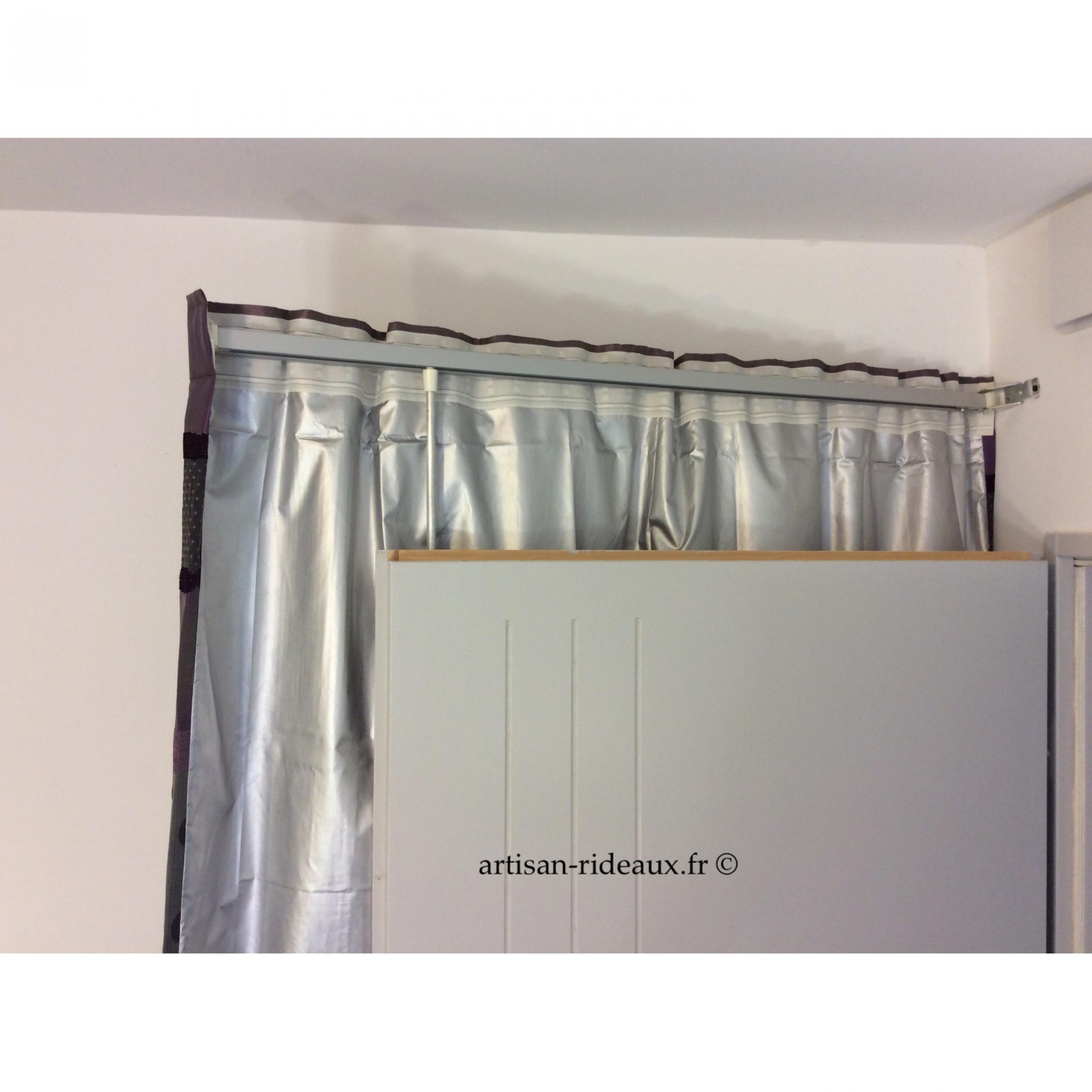 Rideaux ruflette isolant thermique pour tringle porti re berlingot prune 137 x 241 cm l - Ruflette vague pour rideaux ...