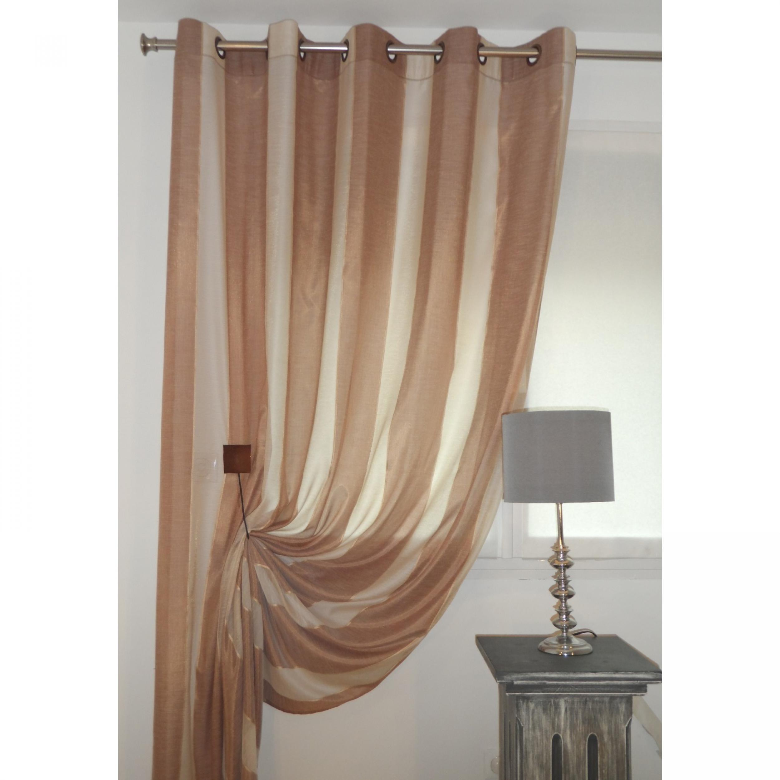 rideaux voilage cordes beige 190 x 245 cm l 39 atelier de la toile. Black Bedroom Furniture Sets. Home Design Ideas