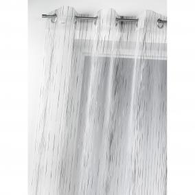 voilage grande hauteur visan blanc 200 x 260 cm l. Black Bedroom Furniture Sets. Home Design Ideas