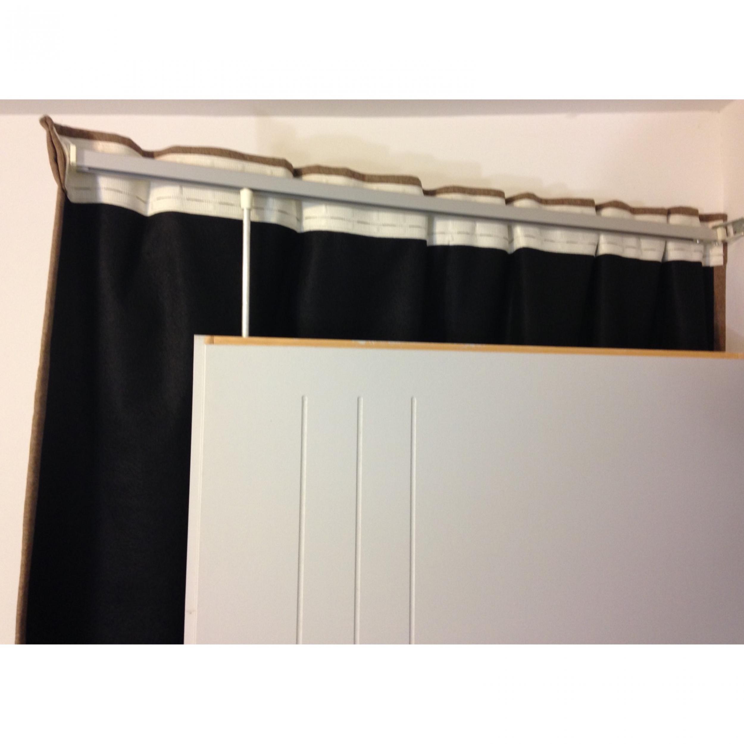rideaux ruflette isolant thermique varese taupe pour. Black Bedroom Furniture Sets. Home Design Ideas