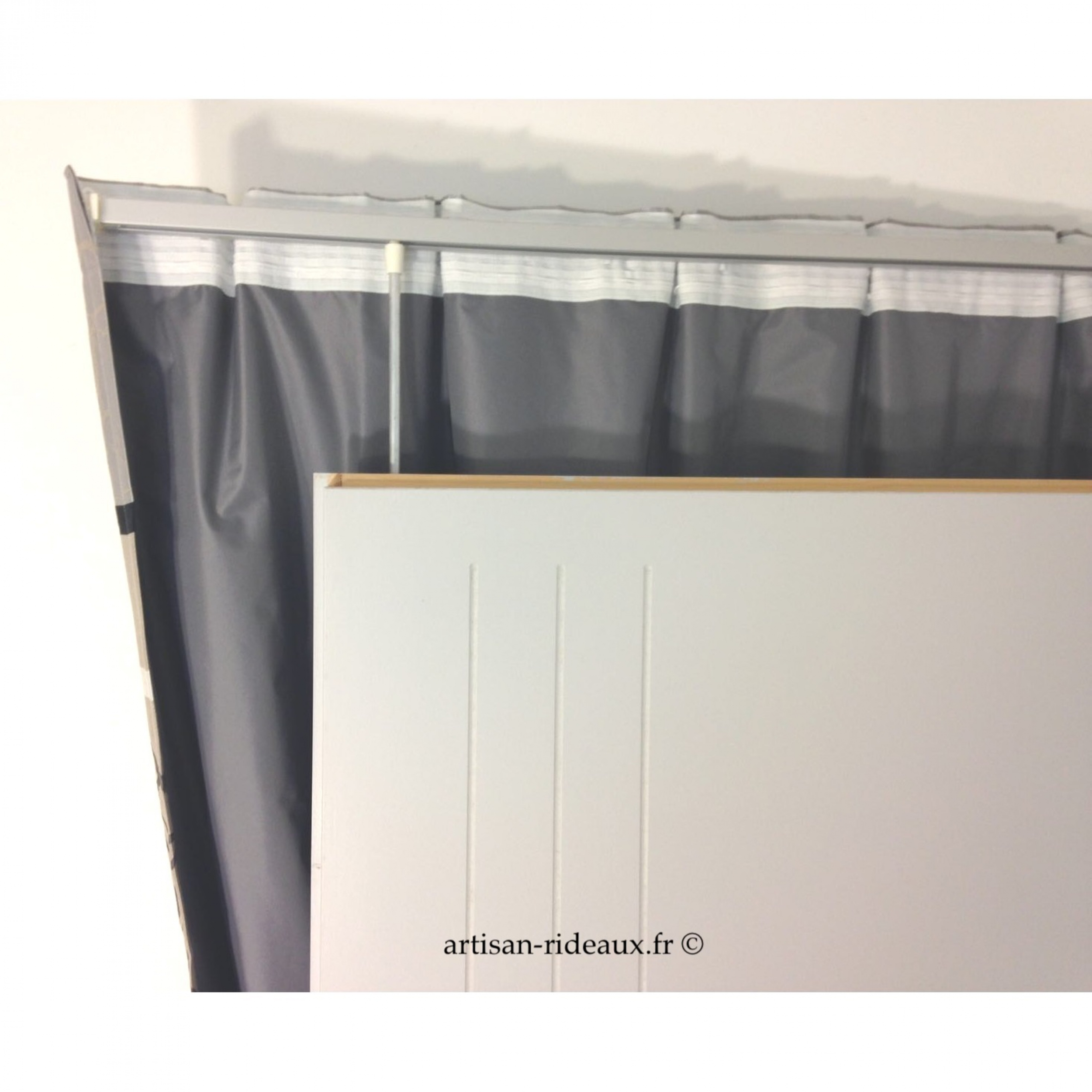 rideaux ruflette isolant thermique megeve couleur lin pour. Black Bedroom Furniture Sets. Home Design Ideas