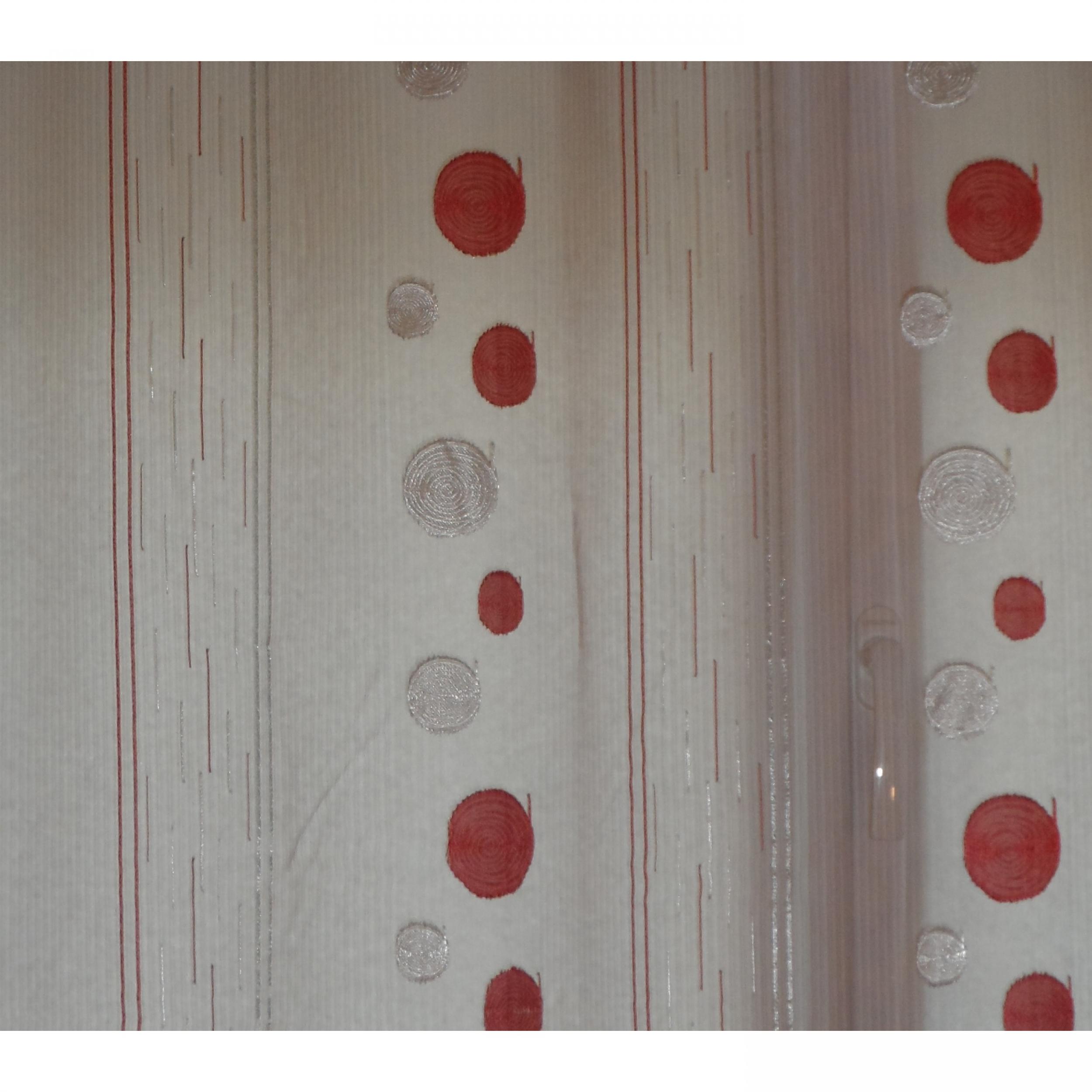 Voilage prêt à poser SPIRALE bordeaux 190 x 247 cm - L\'atelier de la ...