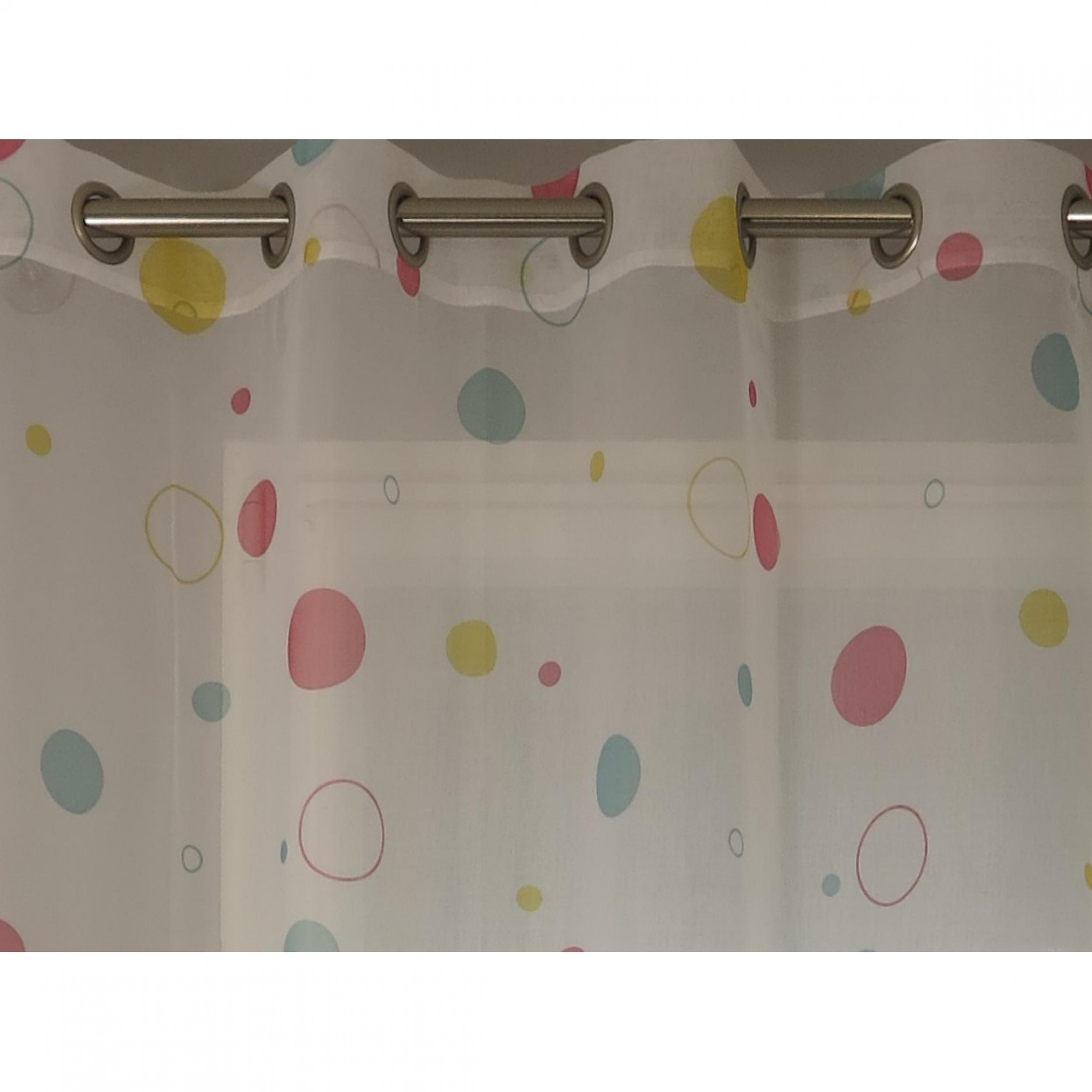 voilage pr t poser gourmandise rose 140 x 260 cm l. Black Bedroom Furniture Sets. Home Design Ideas