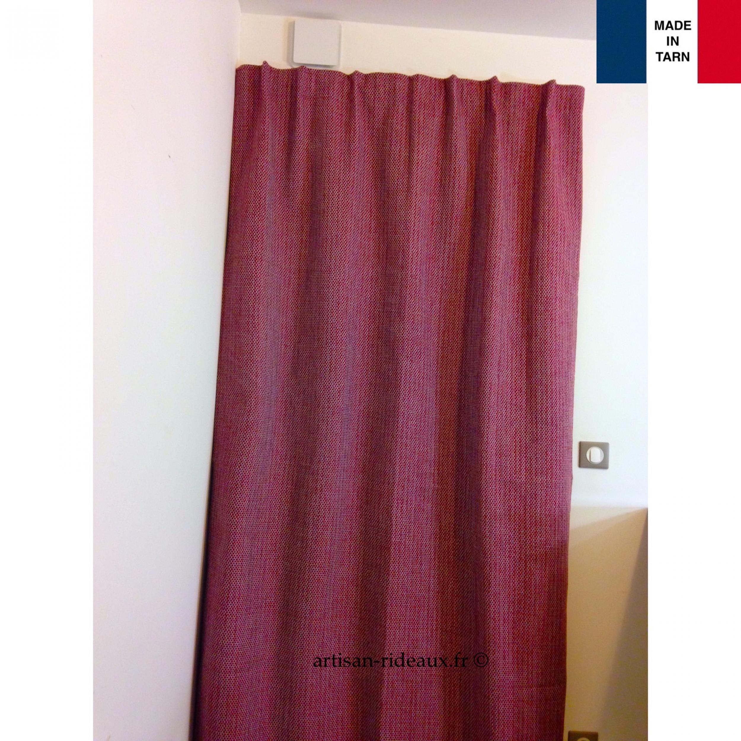 Rideaux ruflette isolant thermique pour tringle porti re poesia bordeaux 136 x 235 cm l - Rideaux isolant thermique ...