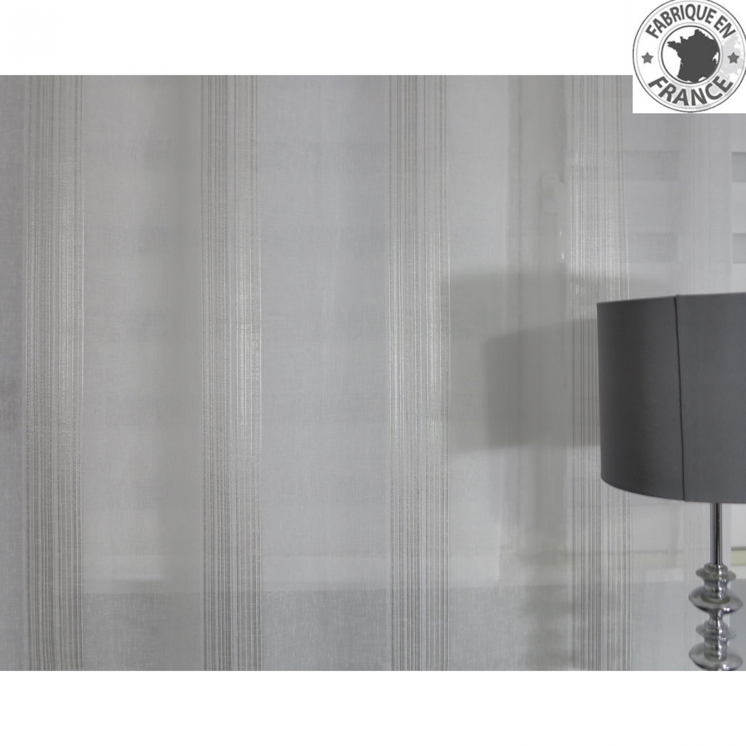 voile au m tre aspect lin avec rayure ivoire en grande hauteur 300 cm petits stocks l 39 atelier. Black Bedroom Furniture Sets. Home Design Ideas