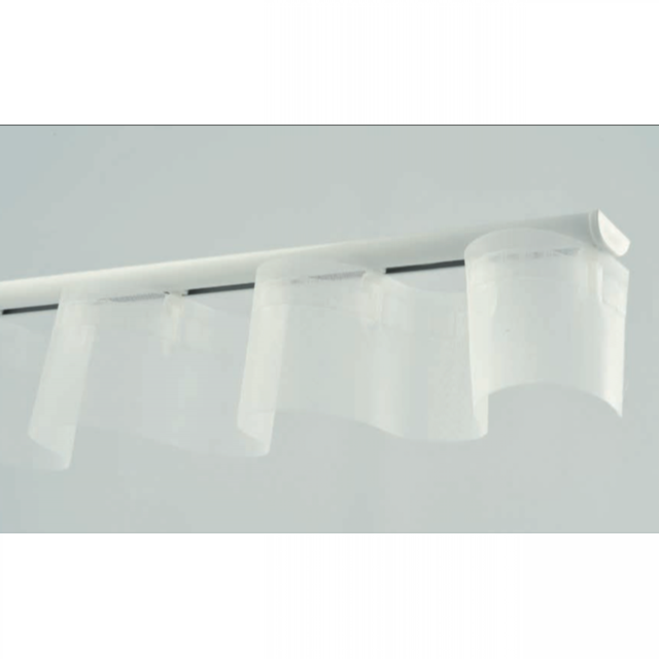 Barre Rideau Fixation Plafond rail ds pour rideau à vague extra plat 1,1 x 2,4 cm - l