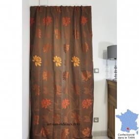 rideaux ruflette isolant thermique pour tringle porti re fiesta moka 140 x 230 cm l 39 atelier de. Black Bedroom Furniture Sets. Home Design Ideas