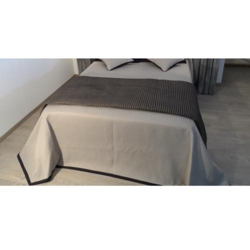 bout de lit axis gris 160 x 230 cm l 39 atelier de la toile. Black Bedroom Furniture Sets. Home Design Ideas