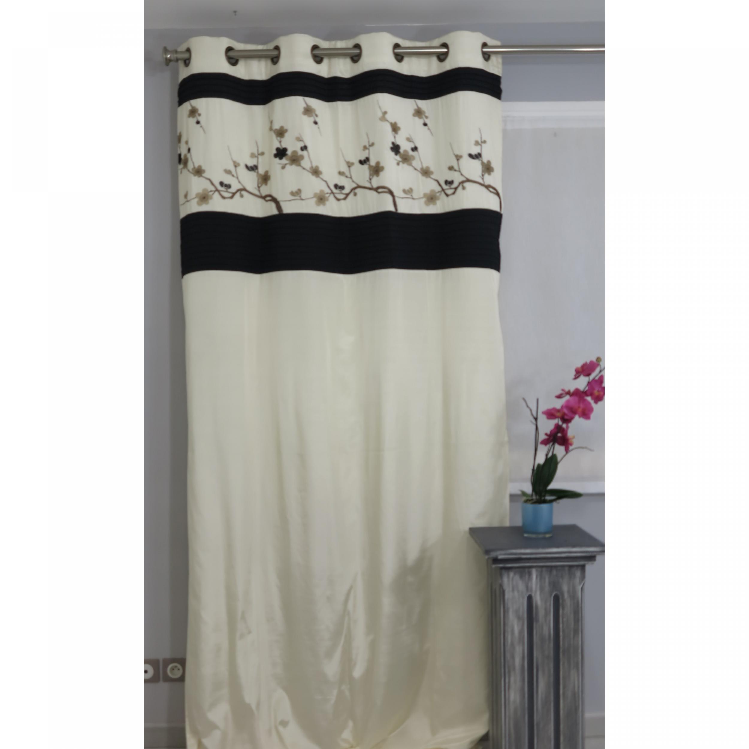 tenture pr t poser doubl prunelle naturel 135 x 270 cm l 39 atelier de la toile. Black Bedroom Furniture Sets. Home Design Ideas