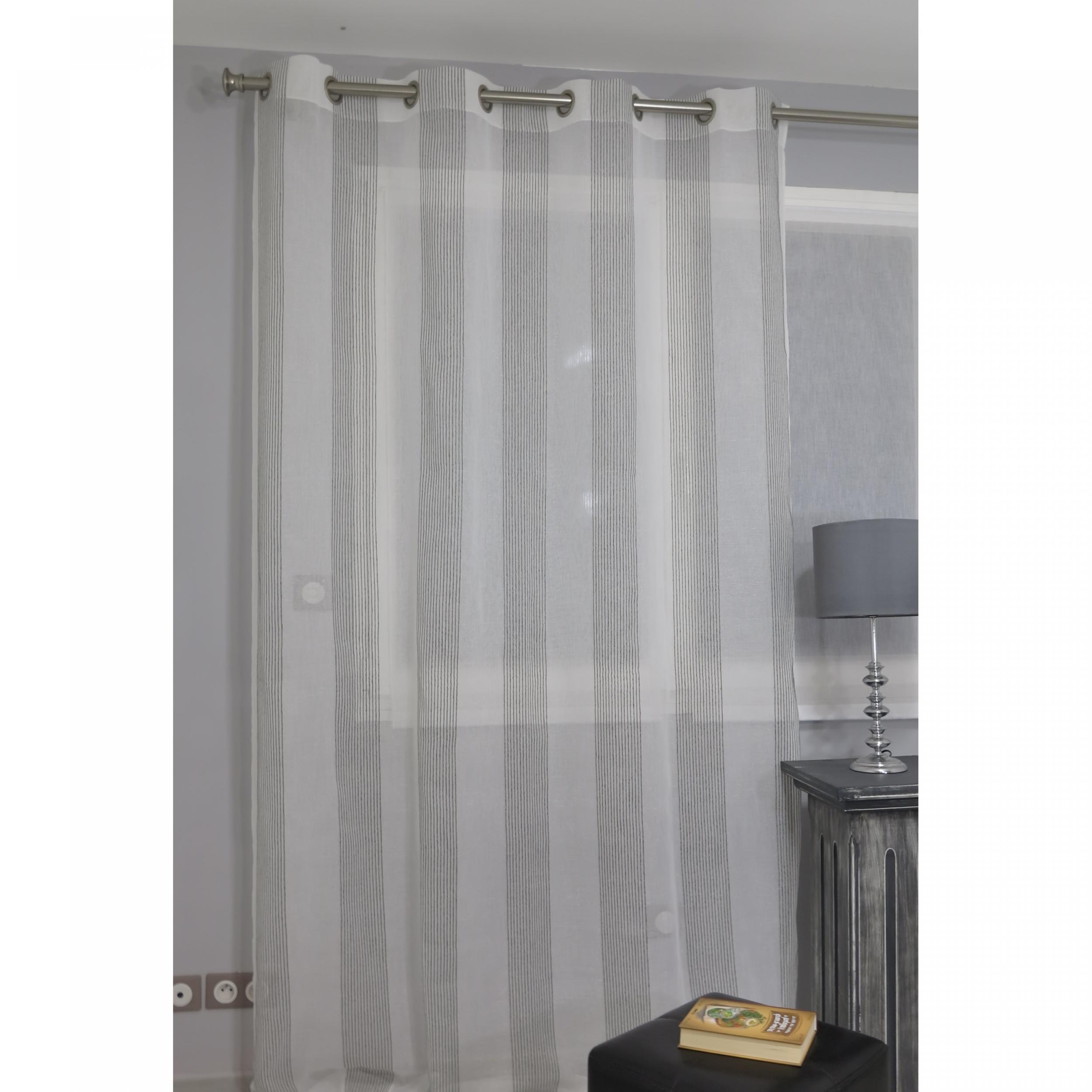 voilage pr t poser bengal gris 160 x 260 cm l 39 atelier. Black Bedroom Furniture Sets. Home Design Ideas