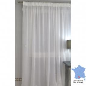 voilage galon fron eur milla blanc 420 x 287 cm l 39 atelier de la toile. Black Bedroom Furniture Sets. Home Design Ideas