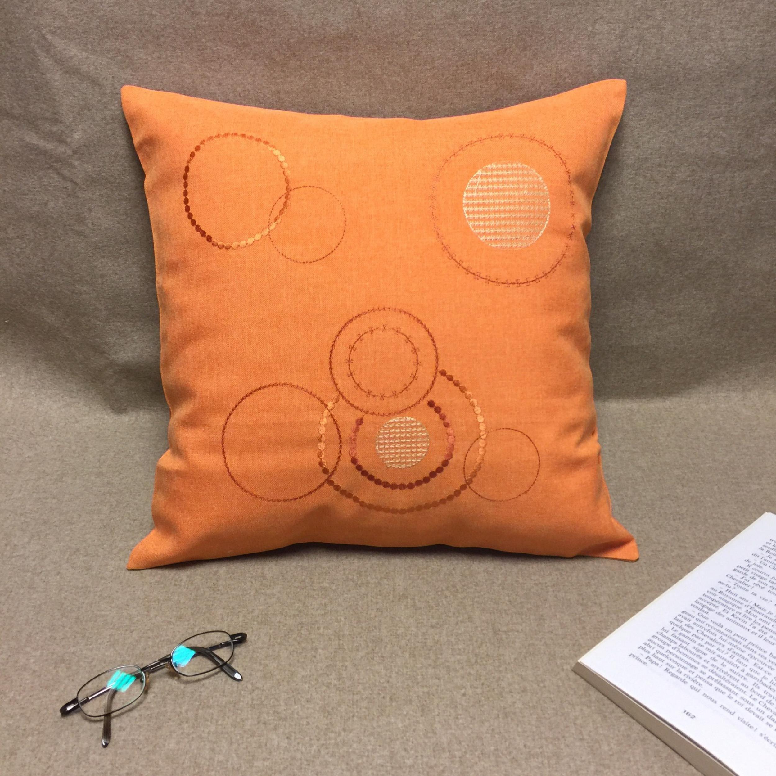 Housse de coussin MATHIS orange 40 x 40 cm   L'atelier de la toile