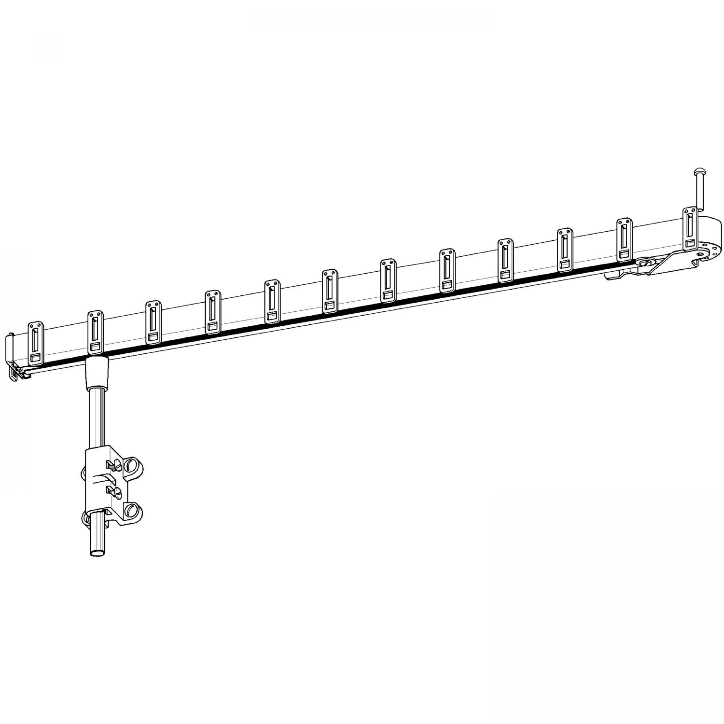 Barre Pour Rideau De Porte D Entrée tringle de porte pivotante pivorail (pour porte en affleurement) - l