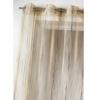 voilage grande hauteur visan blanc 200 x 260 cm l 39 atelier de la toile. Black Bedroom Furniture Sets. Home Design Ideas