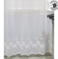 voilage sur mesure avec base brod blanc jusqu 39 en 270 cm de haut l 39 atelier de la toile. Black Bedroom Furniture Sets. Home Design Ideas