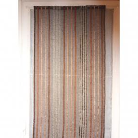 la paire de rideaux vitrages mikado chocolat 60 x 158 cm. Black Bedroom Furniture Sets. Home Design Ideas