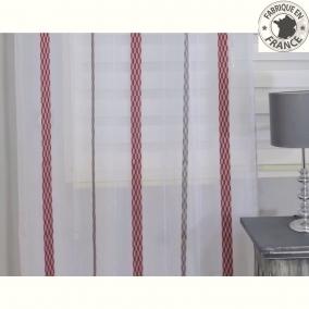 voile au m tre rouge et gris en grande hauteur 300 cm l. Black Bedroom Furniture Sets. Home Design Ideas