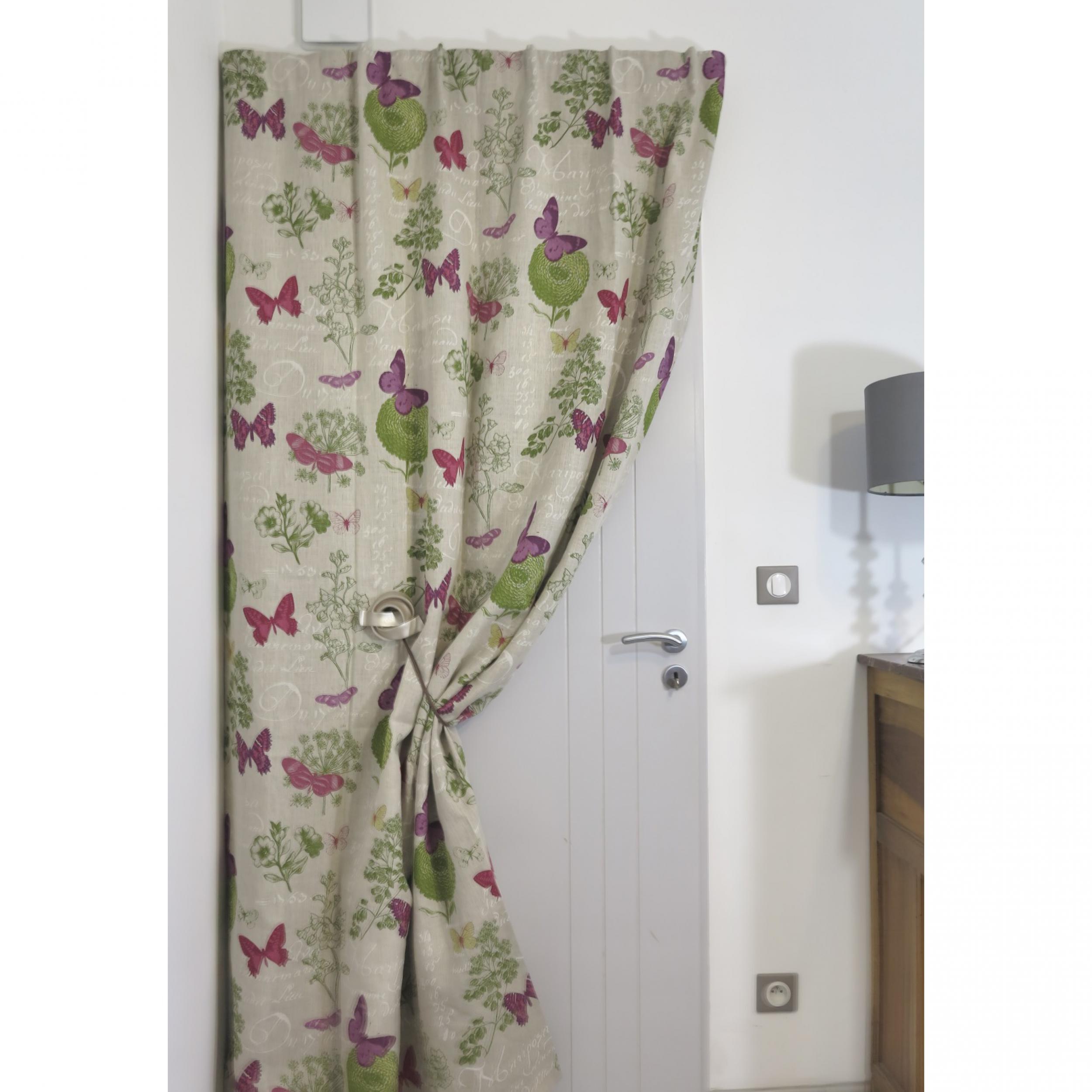 rideaux ruflette isolant thermique dynasty fushia pour tringle porti re 137 x 233 cm l 39 atelier. Black Bedroom Furniture Sets. Home Design Ideas
